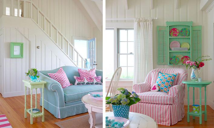 Cottage stílus – vidéki, színes lakberendezés