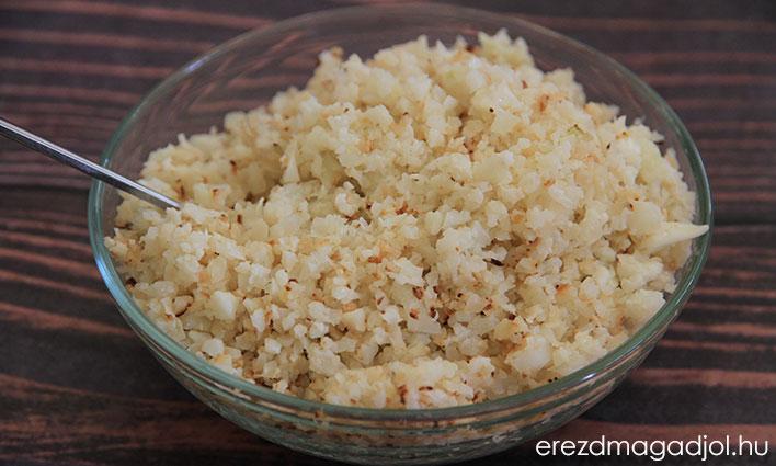 Karfiol rizs – szénhidrát csökkentett köret