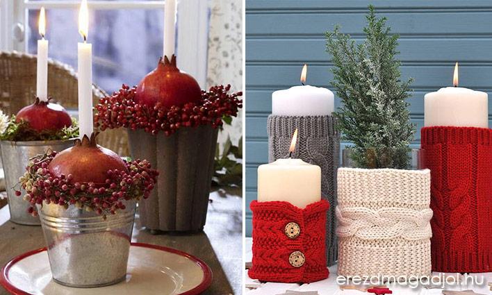 Karácsonyi gyertyás dekoráció – egyszerű, de nagyszerű