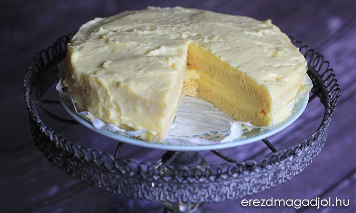 Vaníliakrém torta – gyors, low carb, diétás