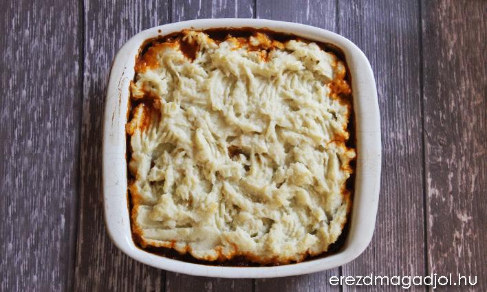 Pásztor pite -egészséges, diétás, karfiol pürével