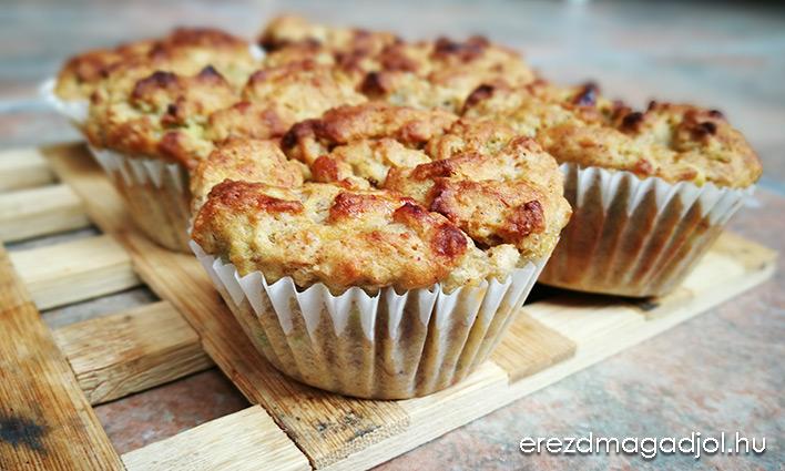 Banános-zabpelyhes muffin – laktózmentes
