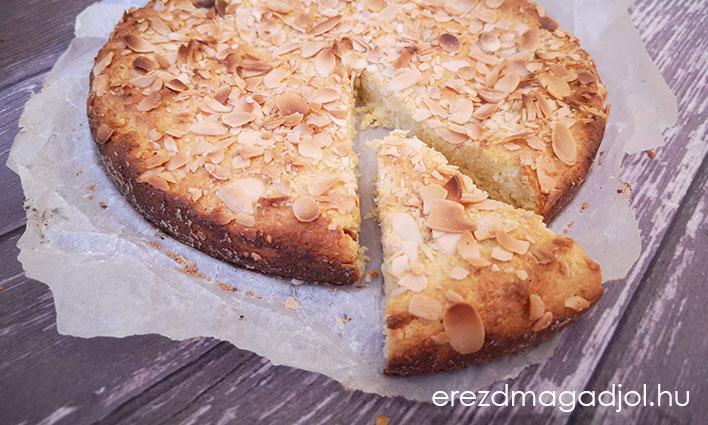 Mandulás-kókuszos süti – liszt és cukor mentes